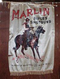 Marlin Rifles & Shotguns Silk Banner / Flag