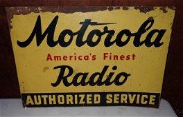 Motorola Radio Authorized Service Sign