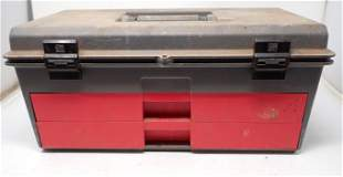 Toolbox w/ Sockets Craftsman Breaker Bar & Misc