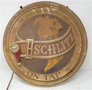 Lighted Schlitz Beer Sign