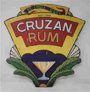 Cruzan Rum Tin Sign