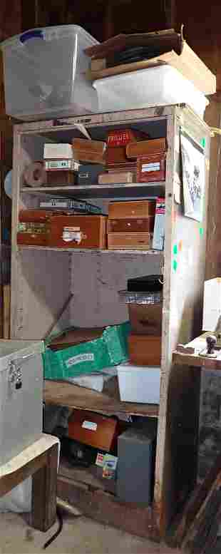 Cigar Boxes Misc Cabinet Contents