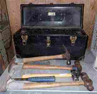 Vintage Bell System Tool Box with Hammers
