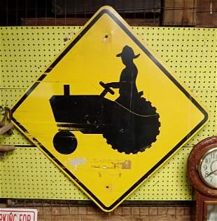 Aluminum Farm Tractor Sign