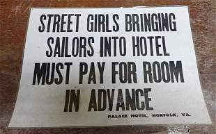 Street Girls and Sailors Sign Norfolk Va