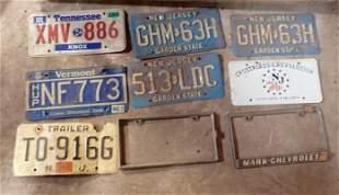 Vintage License Plates Mark Chevrolet Bracket