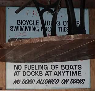 Tin Boat Dock Sign