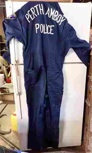 Vintage Perth Amboy Police Jump Suit