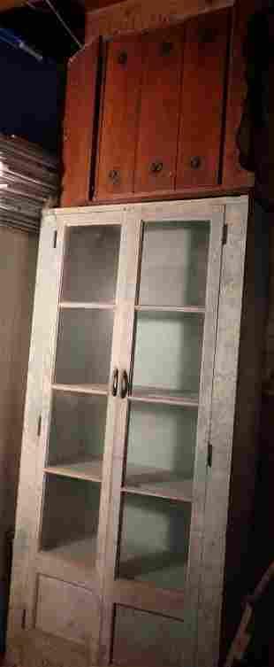 2 Door Cabinet and Slank Front Desk