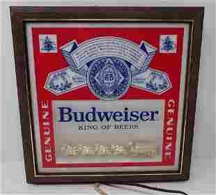 Vintage Budweiser Lighted Beer Sign