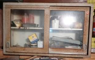 Vintage Metal Medical Cabinet