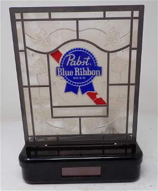 Pabst Blue Ribbon Lighted Clock / Sign
