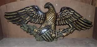 Chalkware Eagle Wall Plaque
