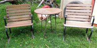2 Garden Benches and Table