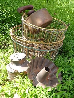 4 Wire Egg Baskets and Misc