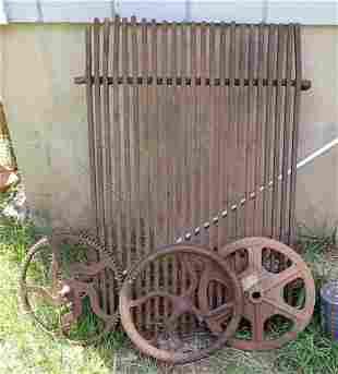 Iron Pulleys Sprocket Steel Grate