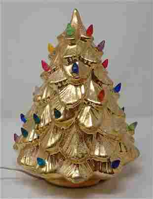 Gold Ceramic Christmas Tree