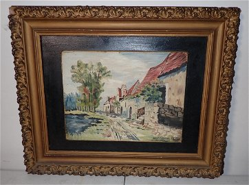1949 Signed Oil on Board Painting