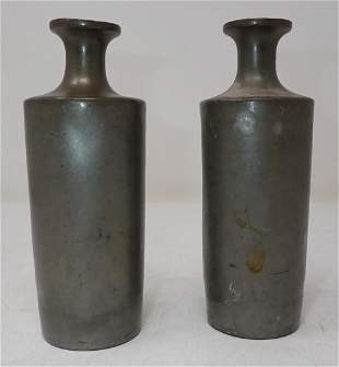 Antique Pewter Vases