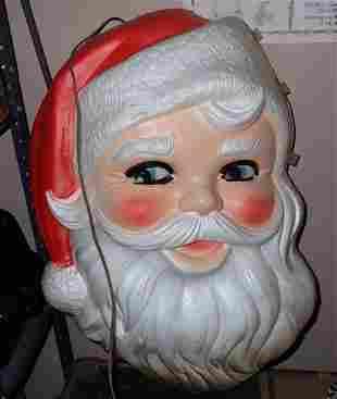 Styrofoam Lighted Santa & Die Cut