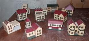 Model Platform Wooden Houses / Buildings