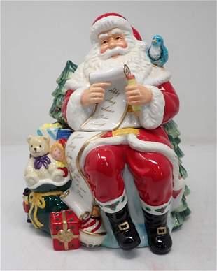 Holiday Heirlooms Santa With List Cookie Jar