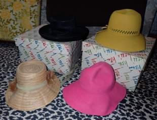 Vintage Adolfo Mr John Henry Margu Hats