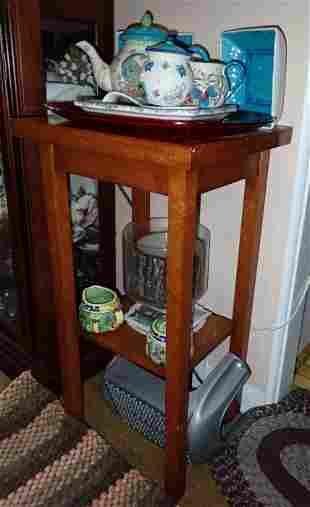 Dutch Wax Teapot Creamer Sugar Plant Stand