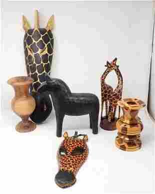 Wooden Vases Giraffes & Misc