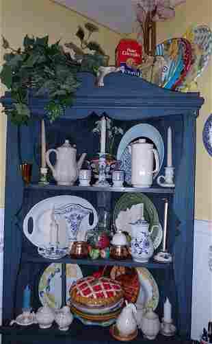 Teapots Platter Misc Cupboard Contents