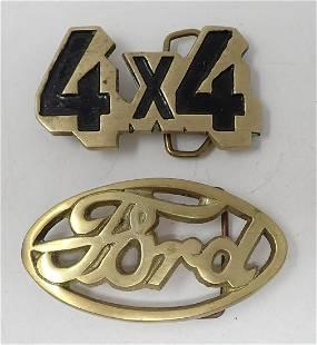 Brass Ford & 4x4 Belt Buckles