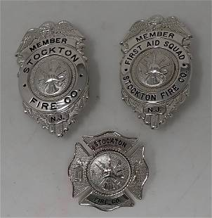 Stockton NJ Fire Co Badges