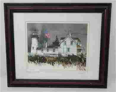 Signed Pemaquid Lighthouse Maine Print