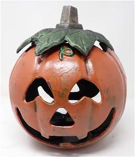 Cast Iron Halloween Jack O Lantern