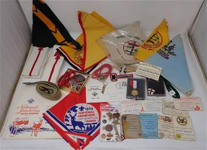 Boyscout Neckerchiefs Medals Pins Misc