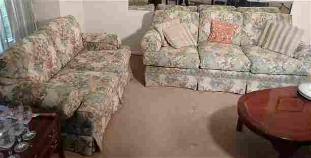 Sherrill Floral Pattern Sofa & Loveseat