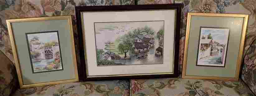 2 Forbes Prints & Asian Watercolor