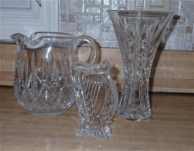 Crystal Vase Waterford Pitcher & Harpsichord