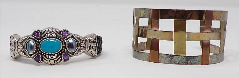 Copper & Sterling Silver Cuff Bracelets