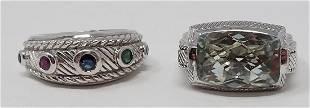 2 Judith Ripka Sterling Silver Rings