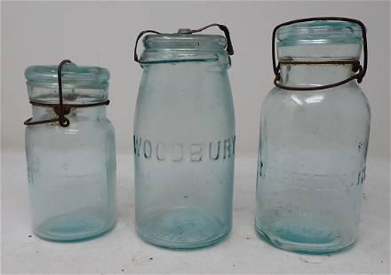 Woodbury & Lightning Fruit Canning Jars