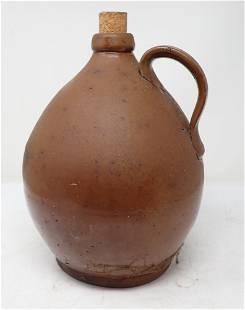Early Redware Pottery Jug