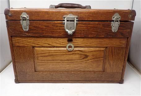 Craftsman Oak Machinist Box