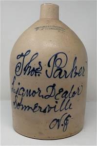Connolly & Palmer Somerville NJ Liquor Dealer Jug