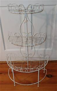 Vintage Wire Plant Stand