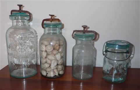 Millville Atmospheric Whitalls Fruit Jars