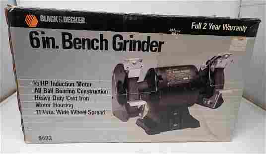 "Black and Decker 6"" Bench Grinder"