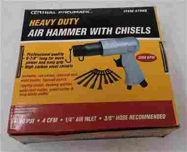 Central Pneumatic HD Air Hammer with Chisels