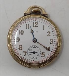 Elgin 10K Rolled Gold Plate Pocket Watch