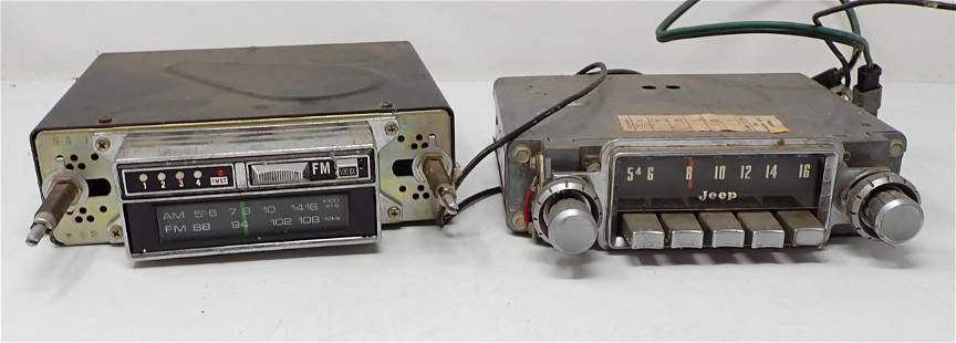 Car 8 Track Stereo and Jeep Radio